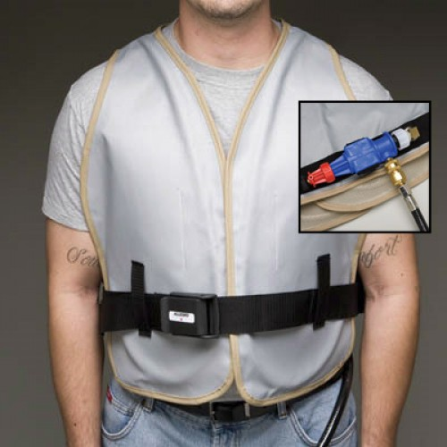 Air Cooling Vest : Vortex cooling vest