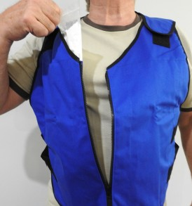 8413 - Vest with Feather Ice Inserts