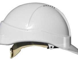 HM1ATW White vented hard hat