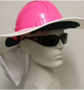 SB1367W White Hard Hat Sun Shade brim