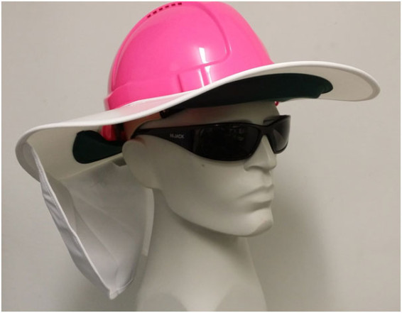 SB1367W White Hard Hat Sun Shade brim