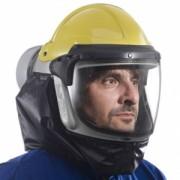 Black neck cape for powered air respirator