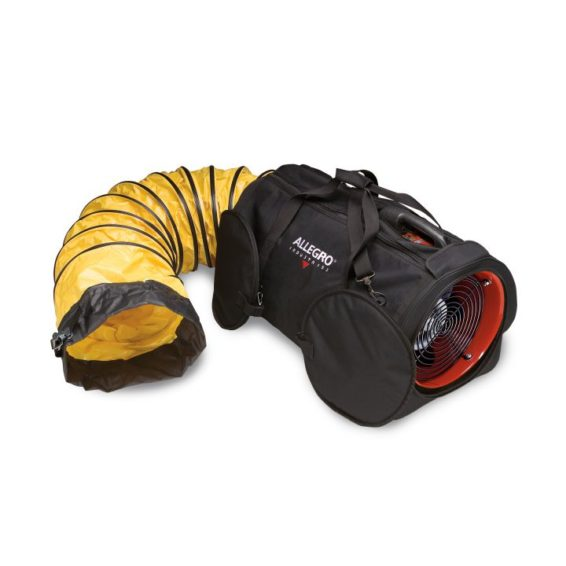 9535-12LDC Blower system with ducting built into a heavy duty bag